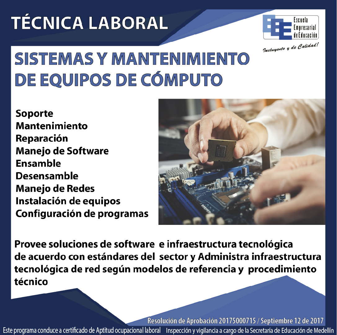 Técnico Laboral Sistemas y Mantenimiento de equipos