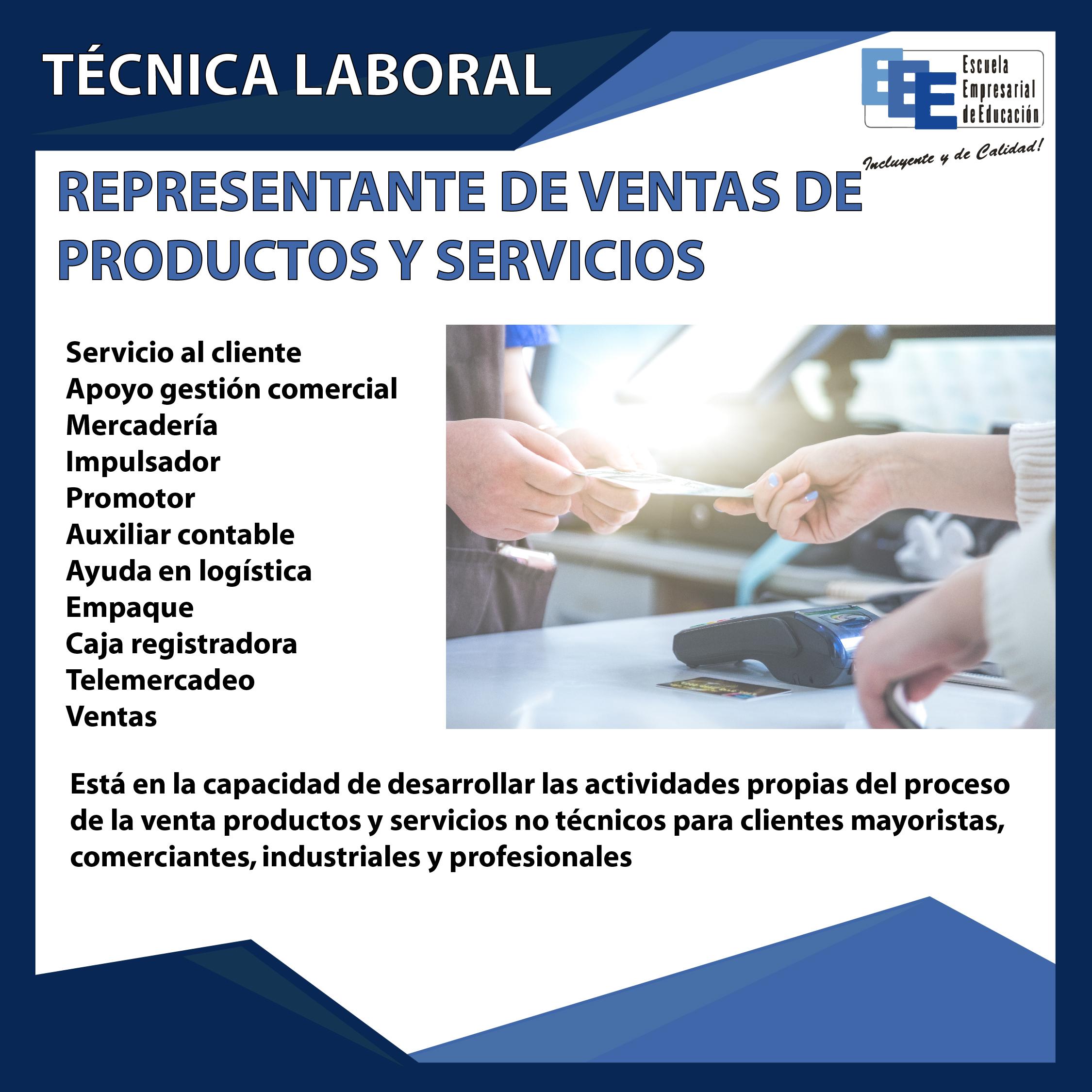 Técnico Laboral Representante de Ventas