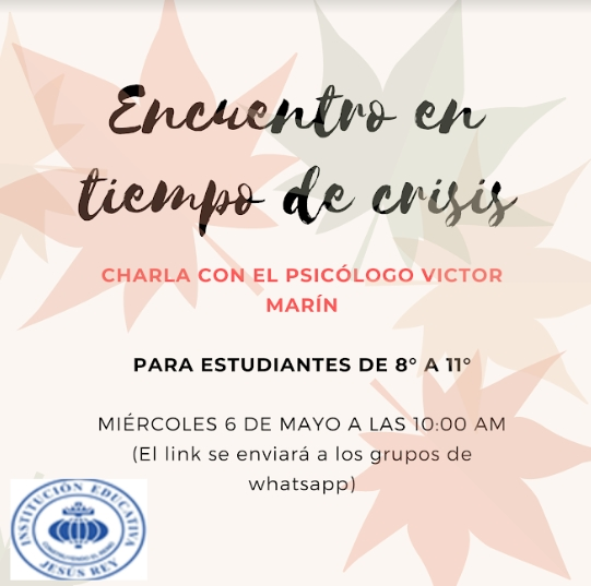 Encuentro psicologo mayo 2020 Jesús Rey