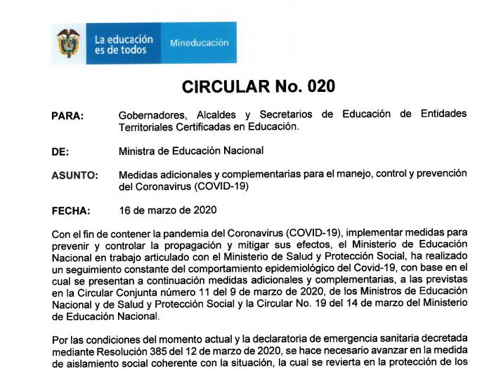 Circular No. 20