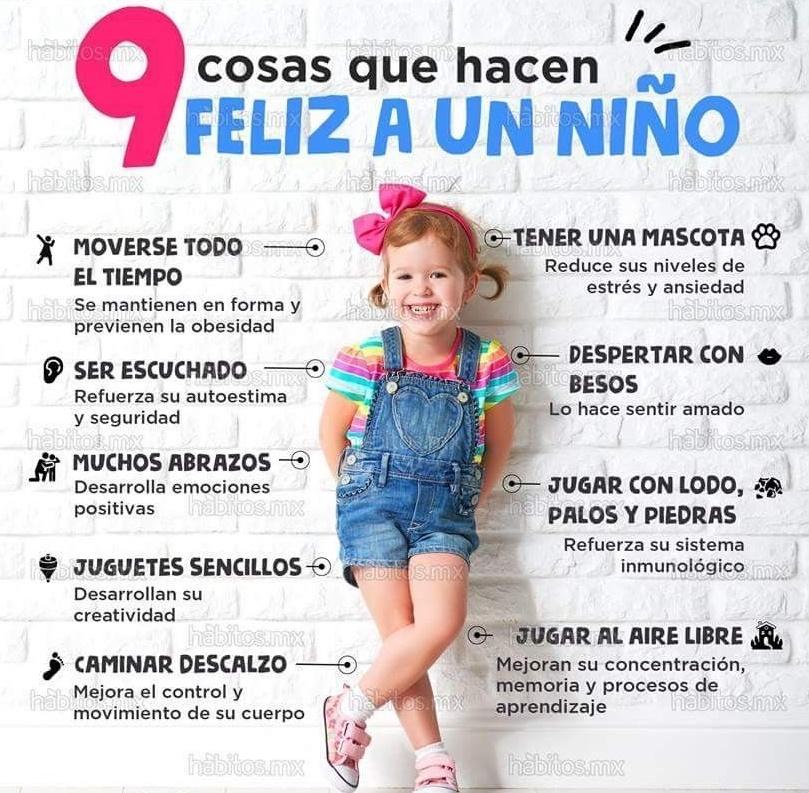 Felicidad a niños