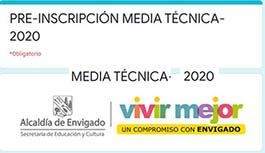 Pre inscripción a Media Técnica 2020