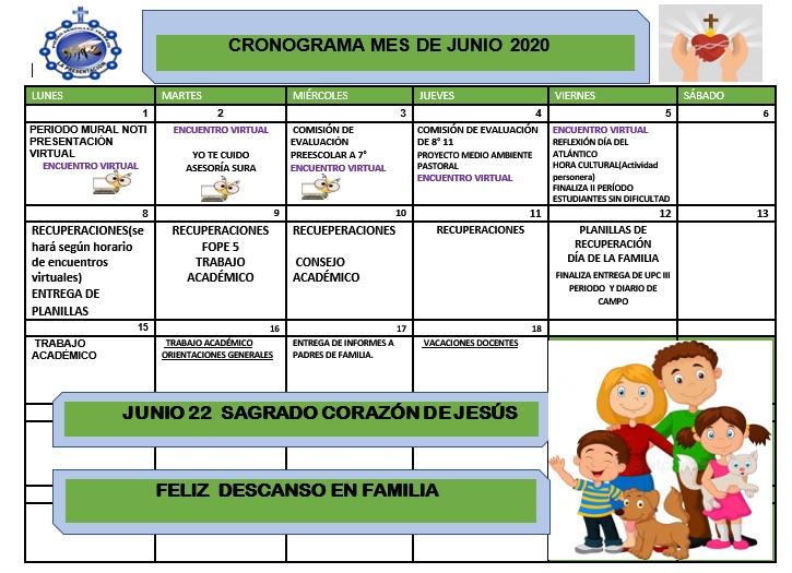 Cronograma Junio