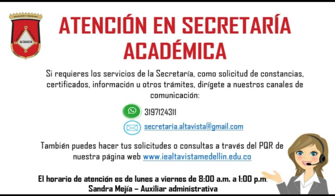 Atención en Secretaria Académica