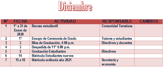 PLAN OPERATIVO DE DICIEMBRE